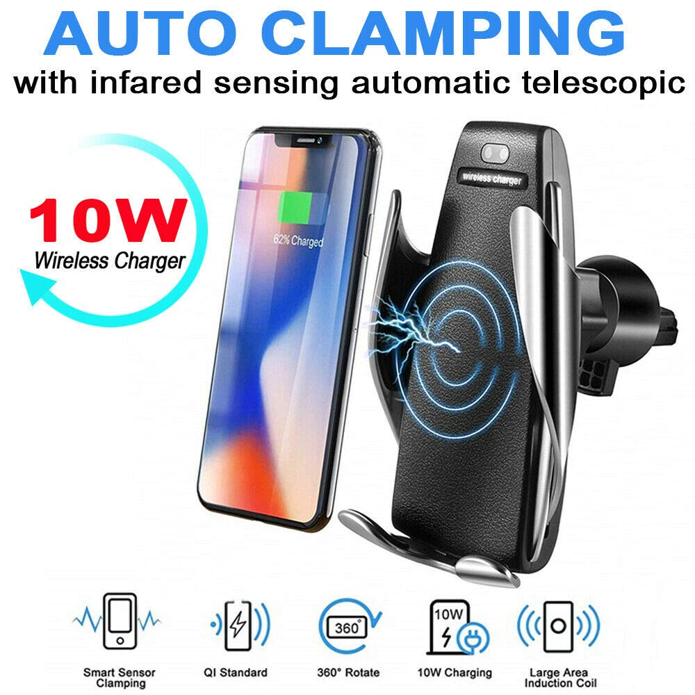 10W Automatic Clamping Wireless Car Charger
